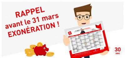 Exonération avant le 31 mars - Article CINQPLUS