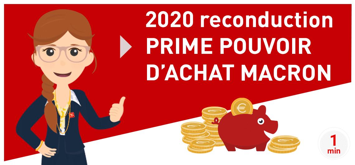 CINQPLUS article 2020 reconduction Prime Macron