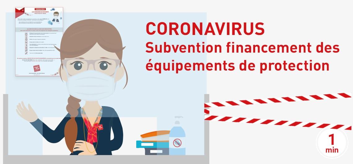 CORONAVIRUS comment bénéficier de la subvention de financement des équipements de protection ?