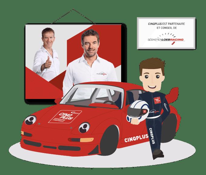 Partenaire et conseil de Sébastien Loeb Racing - CINQPLUS