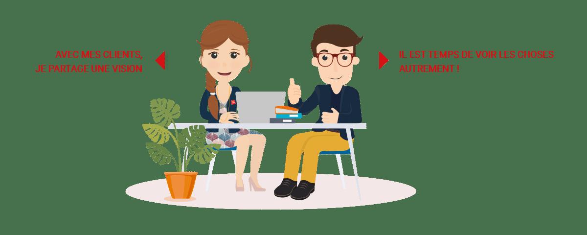 Avec mes clients, je partage une vision. Il est temps de voir les choses autrement - CINQPLUS